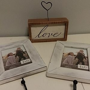 3 picture frames/holders. New